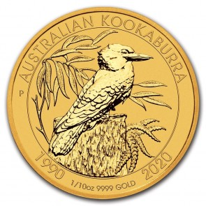 1/10 oz Gold Perth Mint Kookaburra Coin 2020