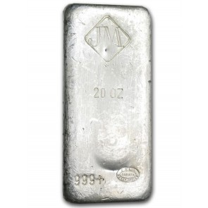 20 oz Silver Johnson Matthey Bar