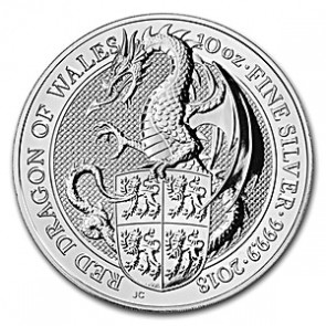 10 oz Silver Queen's Beast - The Dragon Coin 2018