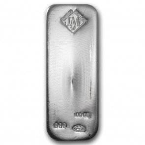 100 oz Silver Johnson Matthey Bar