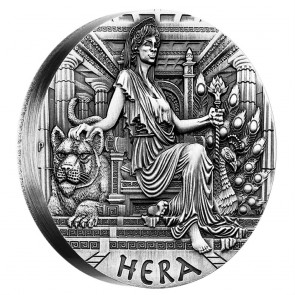 2 oz Silver Goddesses of Olympus - Hera High Relief Coin 2015