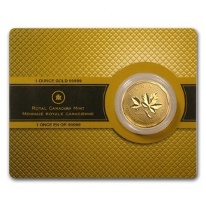 1 oz Gold Canadian Maple Leaf in Assay .99999 Coin 2008