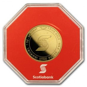 1 oz Gold Scotiabank Valcambi Round
