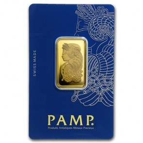 20 gram Gold PAMP Suisse Fortuna Veriscan Bar
