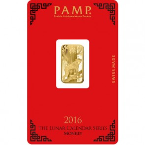 5 gram Gold PAMP Suisse Monkey Bar