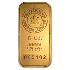 5 oz Gold RCM Bar
