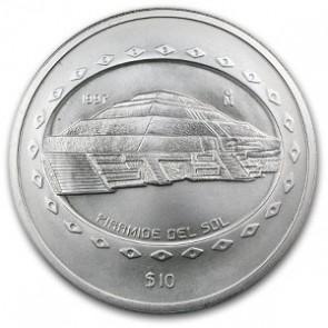 5 oz Silver Piramide Del Sol Coin 1997