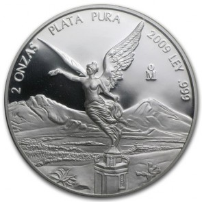 2 oz Silver Mexico Libertad Proof Coin 2009 (In Capsule)