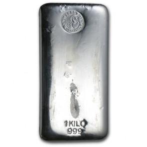 1 kilo Silver Perth Mint Bar