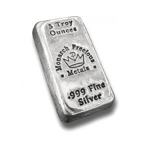5 oz Silver Monarch Precious Metals Bar