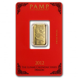 5 gram Gold PAMP Suisse Dragon Bar