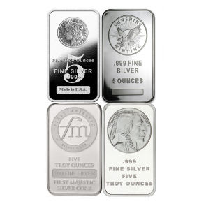 5 oz Silver Various  Bar