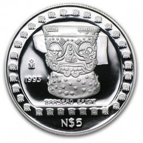 1 oz Silver Mexico Brasero Efigie Proof Coin 1993