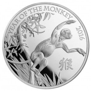 1 oz Silver British Royal Mint Year of the Monkey Coin 2016