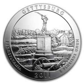 5 oz Silver ATB Gettysburg National Military Park Coin 2011