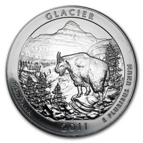 5 oz Silver ATB Glacier National Park, MT Coin 2011