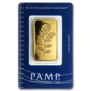 1 oz Gold PAMP Suisse Rosa Bar