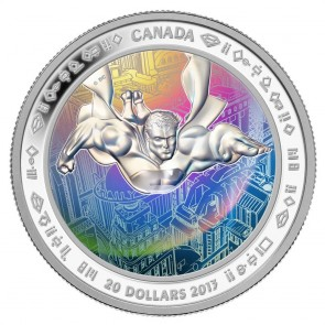 1 oz Silver 75th Anniversary of Superman - Metropolis $20 Coin 2013