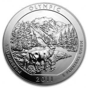 5 oz Silver ATB Olympic National Park, WA Coin 2011