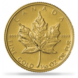 1/10 oz Gold Canadian Maple Leaf Coin Pre-Year