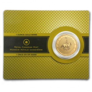 1 oz Gold 5x9 Canadian Mountie Coin in Assay 2011