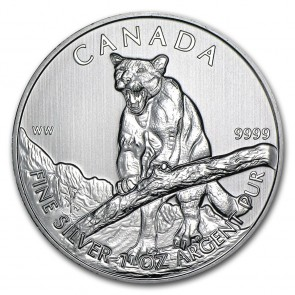 1 oz Silver Wildlife Series Cougar Coin 2012