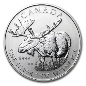 1 oz Silver Wildlife Series Moose Coin 2012