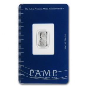 1 gram Platinum PAMP Suisse Fortuna Bar