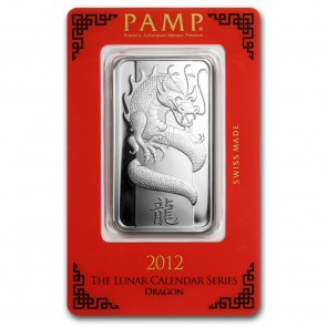 1 oz Silver PAMP Suisse Dragon Bar