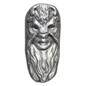 7 oz Silver Bison Bullion - Bison Mask Girl Bar
