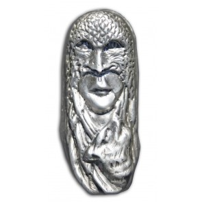 7 oz Silver Bison Bullion -  Eagle Mask Bar