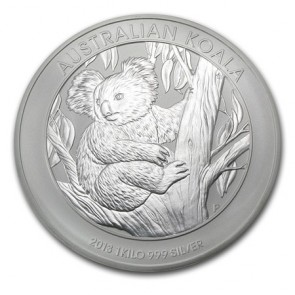 1 kilo Silver Perth Mint Koala Coin 2013