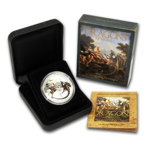 1 oz Silver Dragons of Legend - St. George and the Dragon Proof Coin 2012
