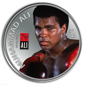 1 oz Silver Muhammad Ali with Glove Set Proof Coin 2012