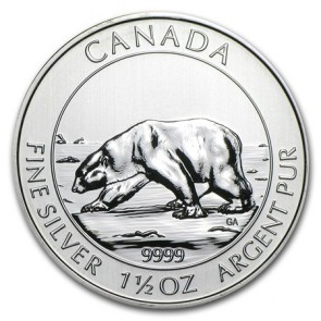 1.5 oz Silver Polar Bear Coin 2013