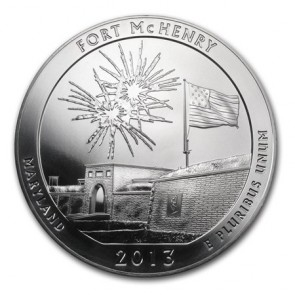 5 oz Silver ATB Fort McHenry Coin 2013