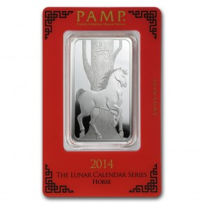1 oz Silver PAMP Suisse Horse Bar