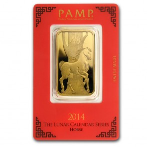 1 oz Gold PAMP Suisse Horse Bar