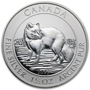 1.5 oz Silver Arctic Fox Coin 2014