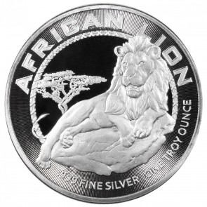 1 oz Silver New Zealand Mint Niue African Lion Coin 2017