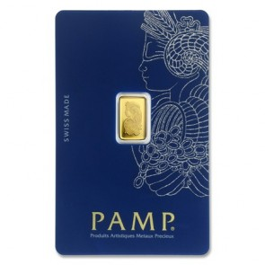 1 gram Gold PAMP Suisse Fortuna Veriscan Bar