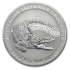 1 oz Silver Saltwater Crocodile Coin