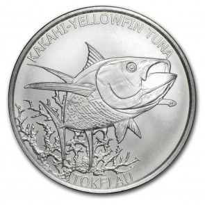 1 oz Silver Yellowfin Tuna Coin 2014