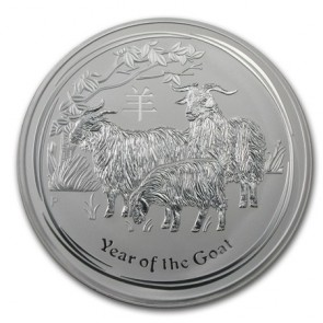 1 kilo Silver Perth Mint Year of the Goat Coin 2015