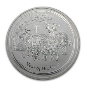 10 oz Silver Perth Mint Year of the Goat Coin 2015