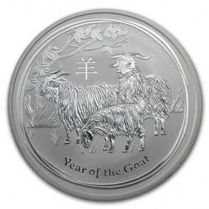 1 oz Silver Perth Mint Year of the Goat Coin 2015