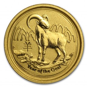 1/4 oz Gold Perth Mint Year of the Goat Coin 2015
