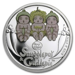 1/2 oz Silver Snugglepot & Cuddlepie Coin 2015