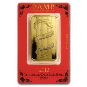 100 gram Gold PAMP Suisse Snake Bar