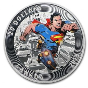 1 oz Silver Iconic Superman™ Comic Book Covers: Action Comics #1 Coloured Coin (2015)